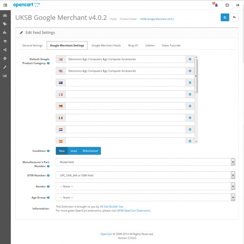 Bing Sitemap Generator: Google Merchant / Bing Shopping / Feeds + XML