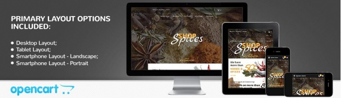 Spices Shop - Responsive 2.0 Theme