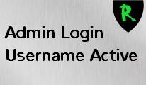 Admin Login Username Active