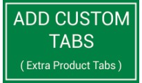 Add Custom Tabs or Extra Tabs in Products