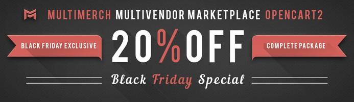 20% Off MultiMerch Multivendor Complete Pack