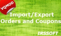 Import/Export Orders and Coupons(vqmod)