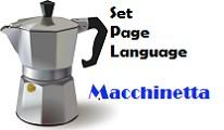 Macchinetta - Set the page Language