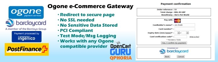 Ogone e-Commerce (Redirect) 1.5.x/2.x
