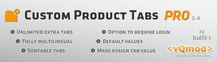 Custom Product Tabs PRO / Unlimited Tabs