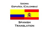 Idioma Español (Colombia) - Spanish Translation