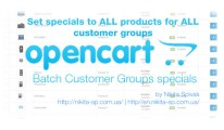 Batch customer group specials