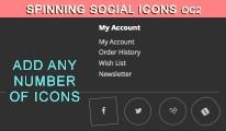 Spinning Social Icons OC2