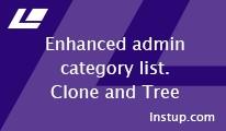 Enhanced admin categories (Clone and Tree)