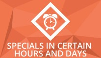 Specials in certain hours and days