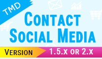 TMD Footer contact and Social media (1.5.x and 2.x )