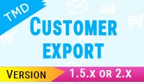 Tmd customer export module(1.5.x and 2.x)
