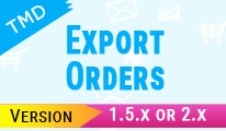 TMD Export Orders (1.5.x and  2.x)