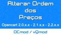 Alterar Ordem dos Preços - OCMOD/Vqmod