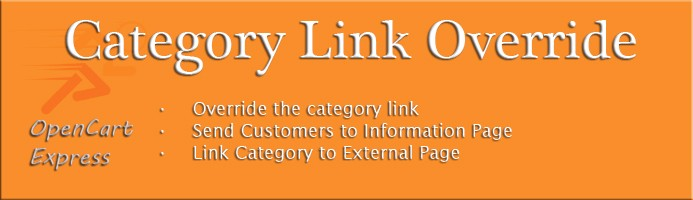 Category Link Override