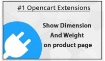 Show Dimension and Weight on product page