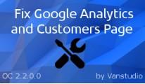 Fix Google Analytics & Customers Page OC-2.2.0.0