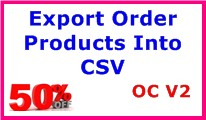 Export Order Products Into CSV