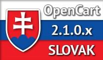 SLOVAK LANGUAGE / SLOVENČINA / OPENCART 2.1.0.x
