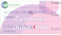 Customer Online Country (show country based on IP)