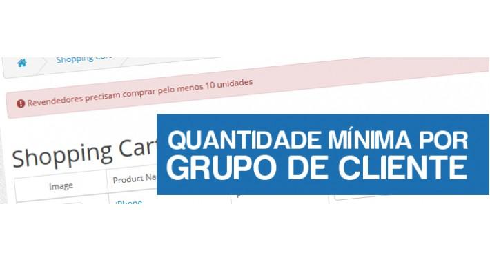 Quantidade Mínima Por Grupo de Cliente
