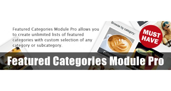 Featured Categories Module Pro - Create featured category lists