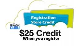 Registration Store Credit (1.5.x)