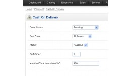 Cash on Delivery limited by total - vqmod