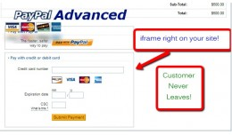Paypal Advanced (iframe or redirect integration)..