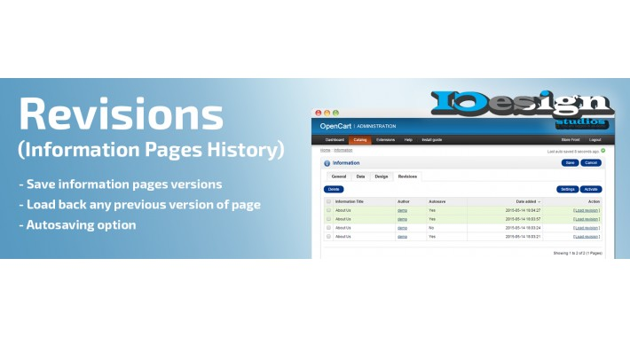 Revisions (Information Pages History)