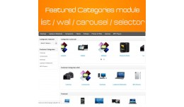 Featured Categories - Wall - Carousel - Selector..