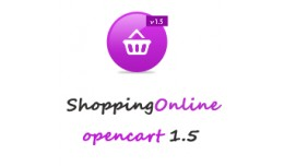 Shopping Online Magenta Opencart 1.5 Theme
