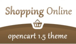 Shopping Online Brown Opencart 1.5 Theme