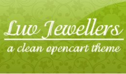 Luv Jewellers Opencart Theme in Green Color