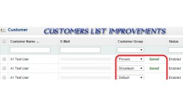Change Customer Group from Customers List