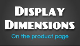 Display Dimensions on Product Page