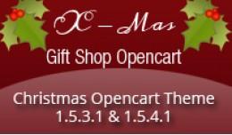 X-Mas Gift Shop Opencart Template