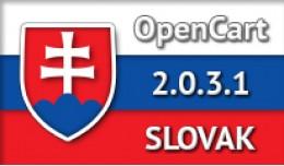 SLOVAK LANGUAGE / SLOVENČINA / OPENCART 2.0.3.1