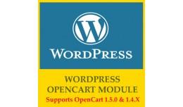 OpenCart WordPress v1.0 Supports OpenCart 1.5.X ..