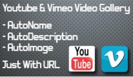 Video Gallery Album - Youtube/Vimeo