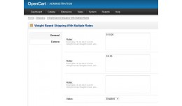 Multiple Rates Weight Shipping