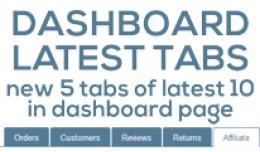 Dashboard Latest Tabs (vqmod)