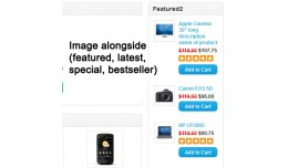 Alongside image (featured, latest, special, best..