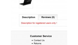 Product description for registered users only !