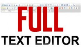 Text editor | Full text editor