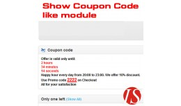 Show Coupon Code like module for v1.5.x.x
