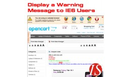 Display a Warning Message to IE6 Users for 1.5.x..