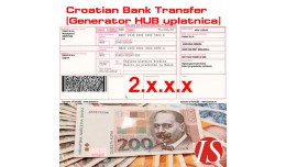 Croatian bank transfer [Generator uplatnica - HU..