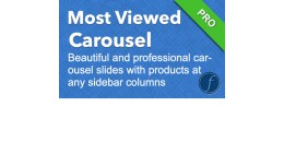Most Viewed Products Carousel