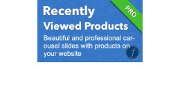 Recently Viewed Products - Carousel